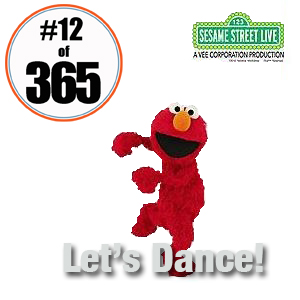 Day 12 of 365 Party With Elmo and Friends at Sesame Street Live Legs Dance - January 12 2015 #365TC