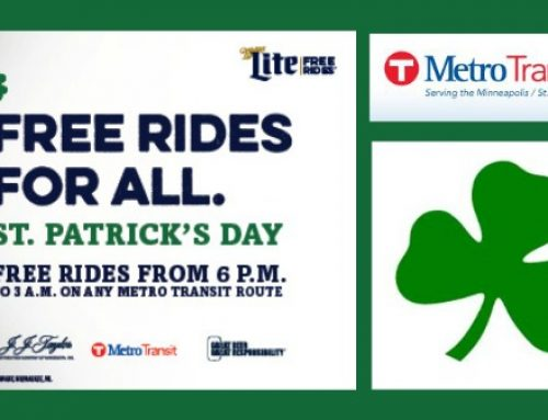 Miller Lite offers Free Rides tonight for St. Patrick's Day