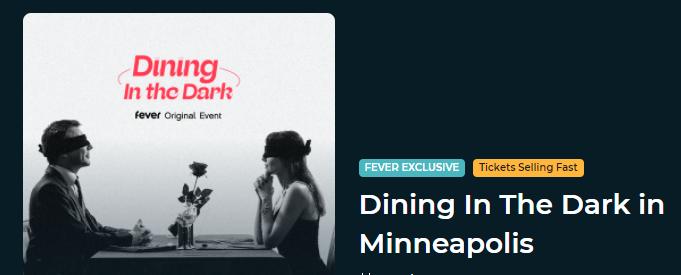 Dining IN The Dark in Minneapolis